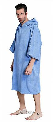 Mens/Boys bath hood towel One size wet-suit Changing robe Surf poncho Home/Sport