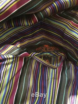 Mens Etro Silk Dressing Gown/ Robe/ Bathrobe XL
