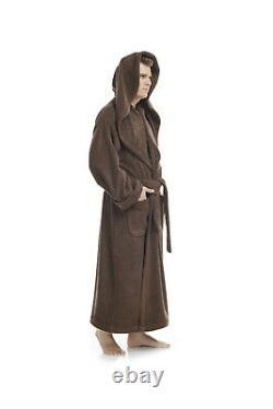 Mens Luxury Monk Bathrobe 100% High Grade Turkish Cotton Terry Robe