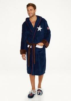 Mens Marvel Avengers Civil War Captain America Dressing Bath Night Gown Robe