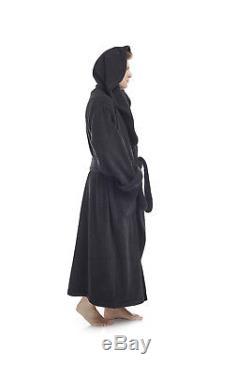 Mens Mega Monk Style Hooded Luxurious Turkish Cotton Terry Bathrobe
