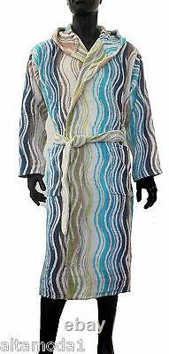 Missonhome Accappatoio Cappuccio Bath Robe Chevron Collection Peggy 170 Medium