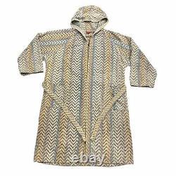 Missoni Patterned Bathrobe Vintage Designer Sleep Robe Nightwear Dressing Gown