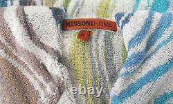 Missonihome Bath Robe Cotton Peggy 170 Hooded Medium Chevron Collection