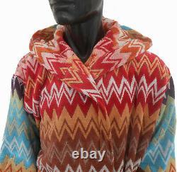 Missonihome Hooded Bath Robe Otello Unisex Size Large Cotton 2 Pockets