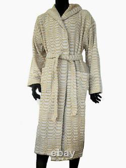 Missonihome Hooded Bath Robe Sammy 461 Cotton Anemone Collection Medium Large