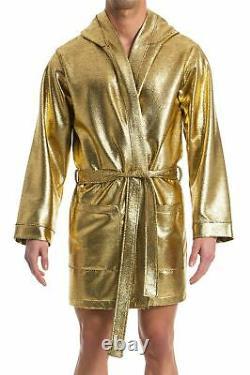 Modus Vivendi S/34-36 Dusk 2 Dawn Robe Gold Silver Hooded Kimono Bathrobe