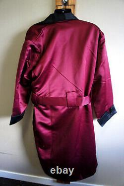 NEW Duke and Digham Sateen Satin Look Smoking Robe XL LSR-60828 Bathrobe o98