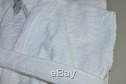 NEW Frette OLANDA Textured Velour Terry Sleeveless BATH Robe SOPHISTICAT White L
