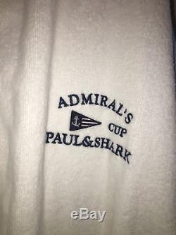 NEW Paul & Shark Jacket Bathrobe Accappatoio Swimm Giacca Men ADMIRALS 3XL WHITE