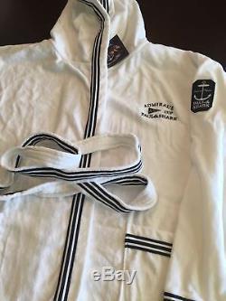 NEW Paul & Shark Jacket Bathrobe Accappatoio Swimm Giacca Men ADMIRALS 6XL WHITE