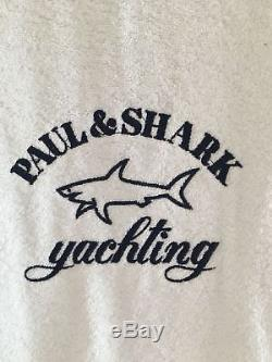 NEW Paul & Shark Jacket Bathrobe Accappatoio Swimm Giacca Uomo Men 3XL WHITE