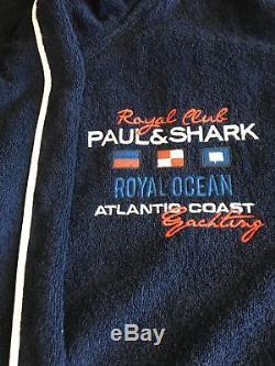 NEW Paul & Shark Jacket Bathrobe Accappatoio Swimm Giacca Uomo Men L Blue Navy