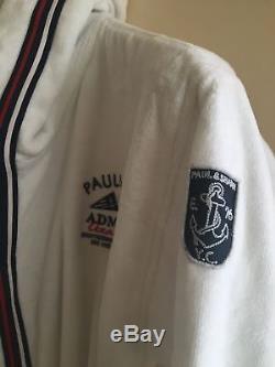 NEW Paul & Shark Jacket Bathrobe Accappatoio Swimm Giacca Uomo Men M L WHITE