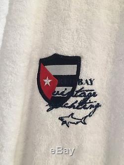 NEW Paul & Shark Jacket Bathrobe Accappatoio Swimm Giacca Uomo Men XL WHITE