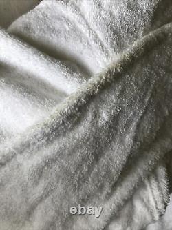 NEW Rare Supreme x Frette Terry Bathrobe Mens 15 S/S BOX LOGO White Robe