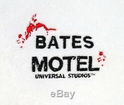 NEW Universal Studios Parks Psycho Bates Motel Logo White Bathrobe