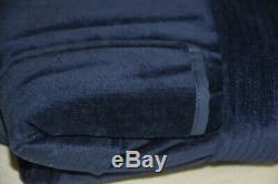 NEW in GIFT BOX Saks Fifth Avenue Terry Velour Men BATH Robe Navy Bllue XL