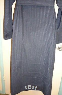 NWT Gray 3 Pockets Calvin Klein Mens Bathrobe 100% Cotton Flannel 52 length