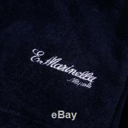 New E. MARINELLA NAPOLI French Terry Belted Cotton Bathrobe L Robe + Box