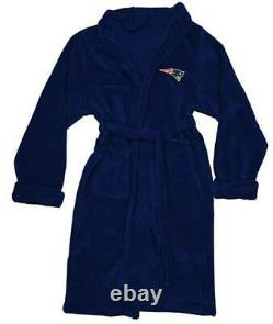 New England Patriots L/XL Silk Touch Men's Bath Robe with Towel & Sandals(11-12)