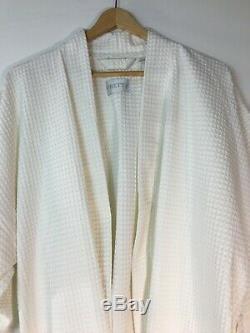New Frette Adult Off White Kimono Style Waffle Weave Bathrobe Size XL