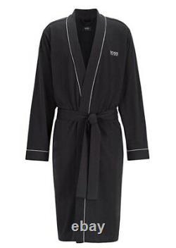 New Hugo Boss men black Jedi nightwear bath robe dressing gown kimono jean Large