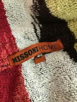 New MISSONI Home Multi Color Homer Robe/ Bathrobe New in the box