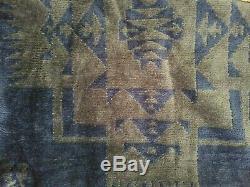 New Pendleton Jacquard Terry Bathrobe Men's M-L 100% Cotton Charcoal and Blue