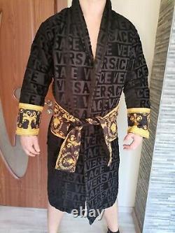 New Soft bathrobe with Versace Symbol 100% Cotton XXL, XL, L, M Perfect gift