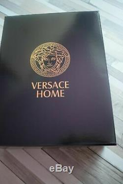 New Versace Symbol Bathrobe Black & Gold100% Cotton Blue and Gold with Gift Box