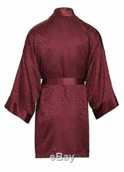 Nyteez Men's Pure Silk Bathrobe Kimono Short 38 Inch