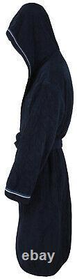 PAUL & SHARK YACHTING Men's Bathrobe Beach Robe Size 2XL 100% Cotton Blue