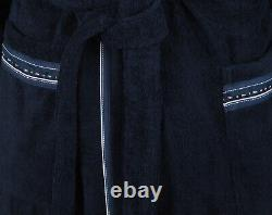 PAUL & SHARK YACHTING Men's Bathrobe Beach Robe Size 4XL 100% Cotton Blue