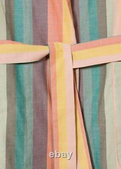 PAUL SMITH Artist Stripe Dressing Gown MENS multi stripe Bath Robe LARGE (L)