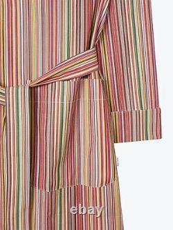 PAUL SMITH Dressing Gown -BNWT Signature Multi Stripe Bath Robe Size Small