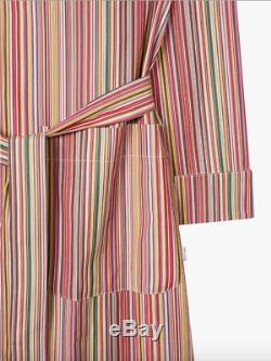 PAUL SMITH Signature Multi Stripe Dressing Gown Bath Robe SMALL