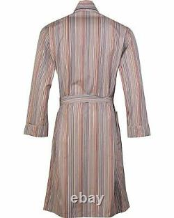 PAUL SMITH Signature Stripe Dressing Gown Bath Robe LARGE (L)