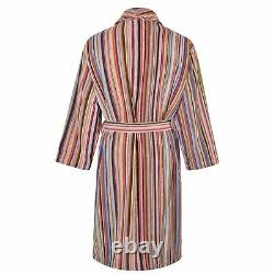 PAUL SMITH Signature Stripe Dressing Gown Bath Robe LARGE Permanent Collection