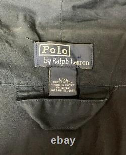 POLO Ralph Lauren Blue Embroidered 1967 Big Red LOGO Bathrobe Robe L/XL (10008)