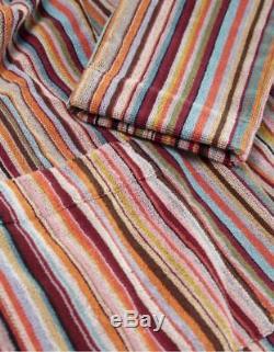 Paul Smith Classic Striped Terry Cloth Cotton Robe Bathrobe Sz M NWOT $395