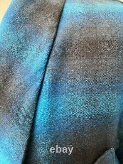 Pendleton Bath Robe Dressing Gown Tartan Check Shirt 100% Virgin Wool Christmas