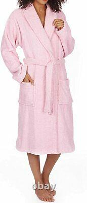 Pink Color Premier Quality Terry Towel Egyptian Cotton Bathrobe Gown