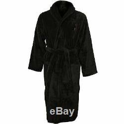 Polo Ralph Lauren Shawl Collar Men's Bathrobe with Luxury Towelling, Dark Slate