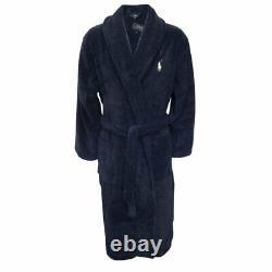 Polo Ralph Lauren Shawl Collar Men's Luxury Towelling Bathrobe, Navy
