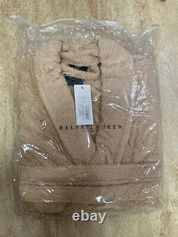 Polo Ralph Lauren Shawl Collar Men's Luxury Towelling Bathrobe, Sand