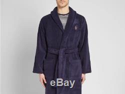 Polo Ralph Lauren Shawl Collar Robe Navy 100% Cotton