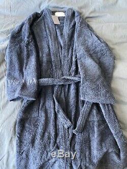 Prada Navy terry Bath Robe (1 size). Retailed For $300