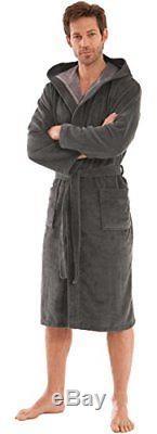 Premium Quality Mens Bathrobe With Hood, Size Xxl uk Size Men 48/50, 50.7 /129