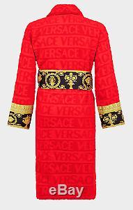 REAL Versace Baroque Bathrobe Medusa Red Size Large